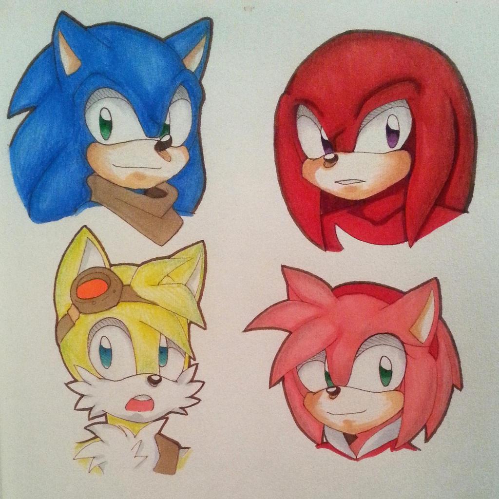 Gambar Kartun Sonic Knuckles: Sonic X Knuckles And Tikal Deviantart
