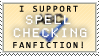 Spell Check Fanfiction Stamp by Kisa-Koufuku