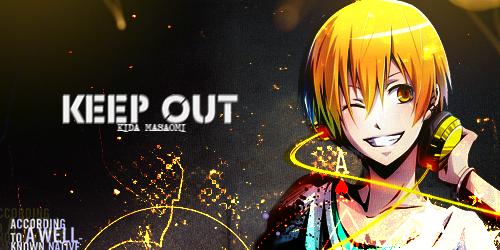 Keep.Out-Kida.Masaomi.DRRR! by BlacknessSoul