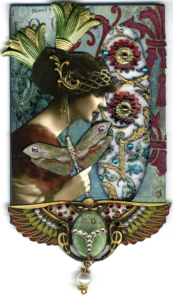 Art Nouveau ATC by ArtfullyMusing