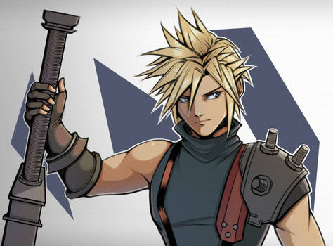 Cloud strife by Langisen