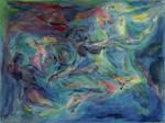 water streams - watercolor