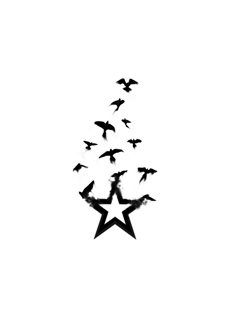 star bird tattoo by firedownbelow on deviantart. Black Bedroom Furniture Sets. Home Design Ideas