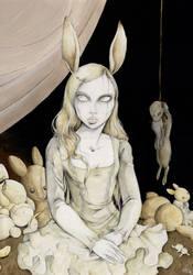 Follow the rabbit by tanuki-chan