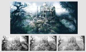 Castle - matte painting