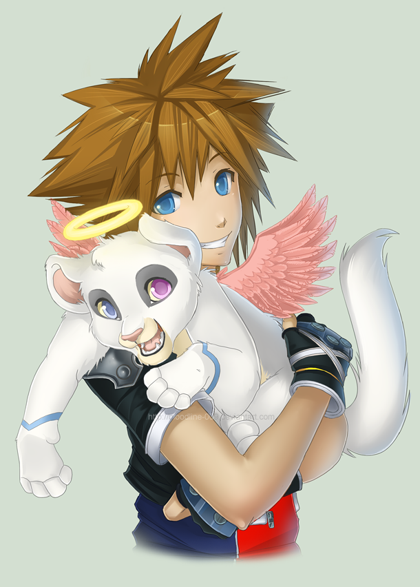Fluffy hug by BloodlineV