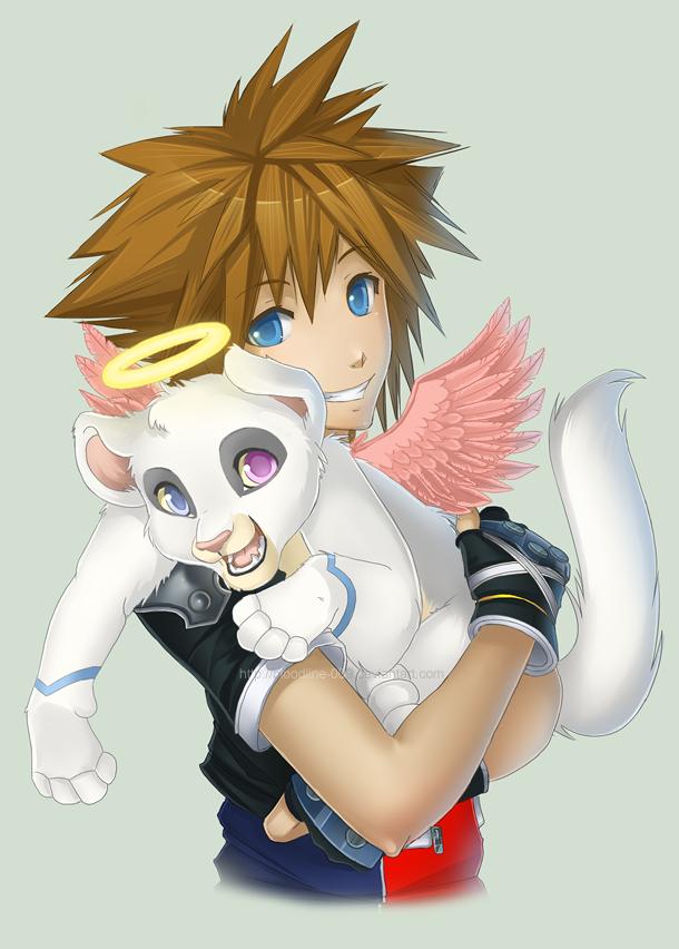 Fluffy hug by BloodlineV