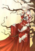 White Crane by BloodlineV