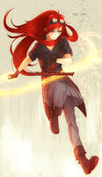 Flaming Flower by BloodlineV