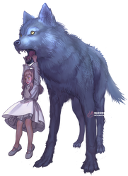 Wolf Friend by BloodlineV