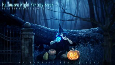 Halloween Night Fantasy Scene