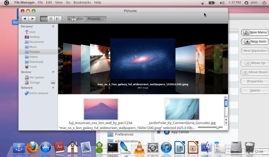 Ubuntu Desktop Screenshot Updated by aeounity