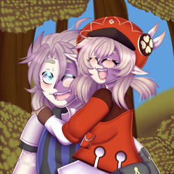 .:Albedo and Klee:.