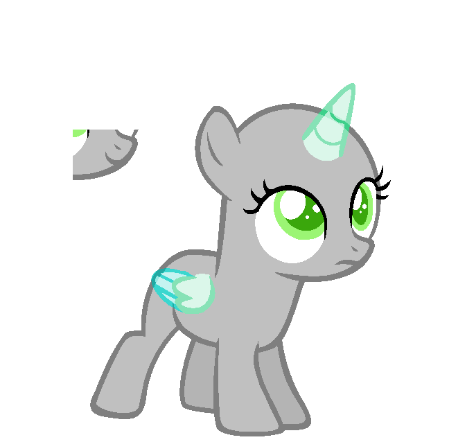 Uncertain Filly --BASE-- by iVuiAdopts on DeviantArt