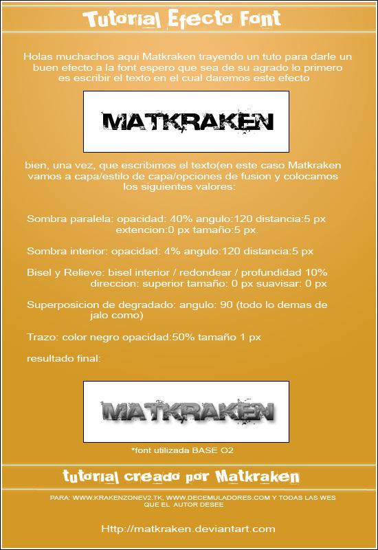 spanish tutorial - font by Matkraken