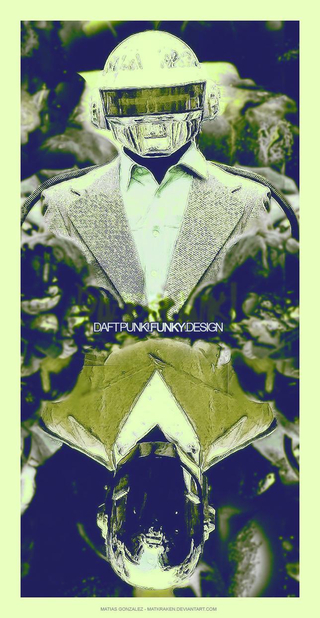 Daftpunk.funkypostcard by Matkraken