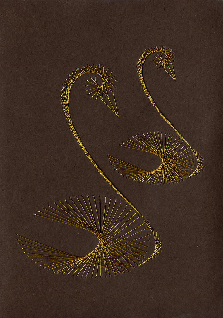 string art swans string art pinterest. Black Bedroom Furniture Sets. Home Design Ideas