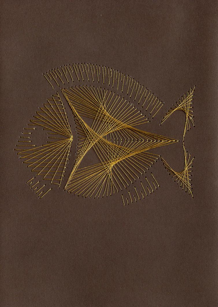String art fish by shutuper on deviantart for Fish string art