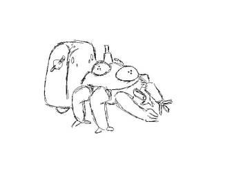 sketch of Tachikoma by Wikeeng