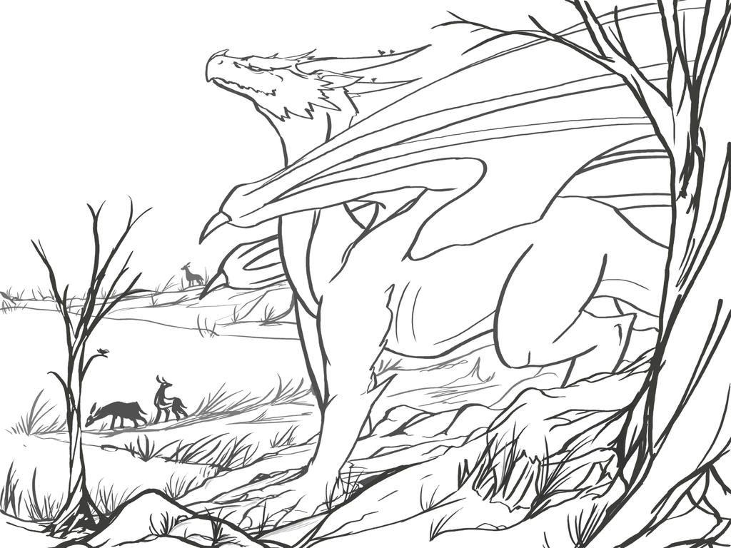 Line Art Forest : Forest depths lines by chromamancer on deviantart