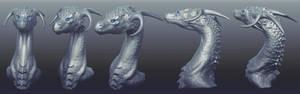 3D Dragon Sculpt