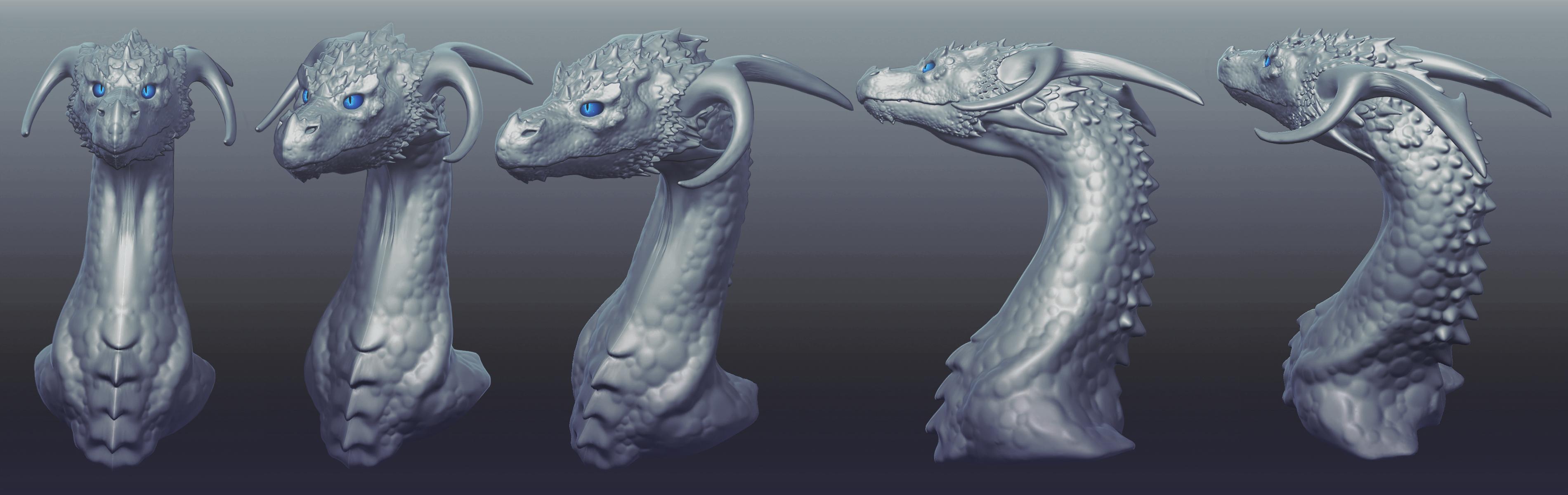 3D Dragon Sculpt by Chromamancer on DeviantArt