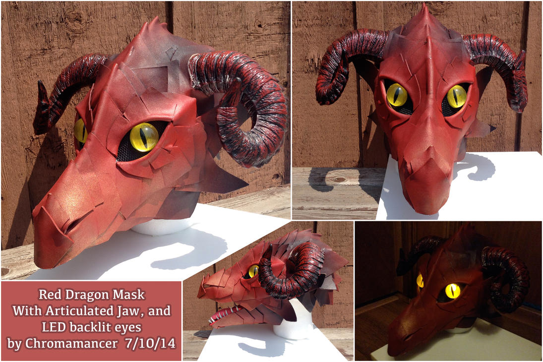 Red Dragon Mask by Chromamancer