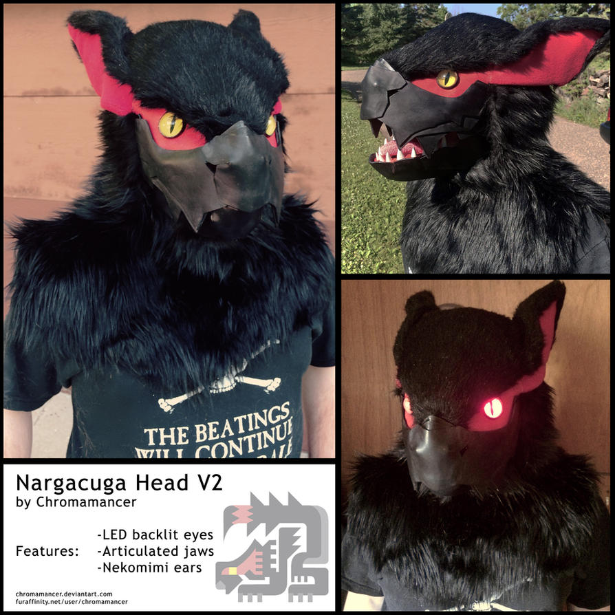 Nargacuga Head by Chromamancer