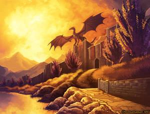 Evening Flight : Golden Age - Temeraire