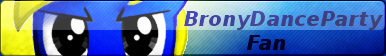 BronyDanceParty Button- MLPOC by EssentialNightfall