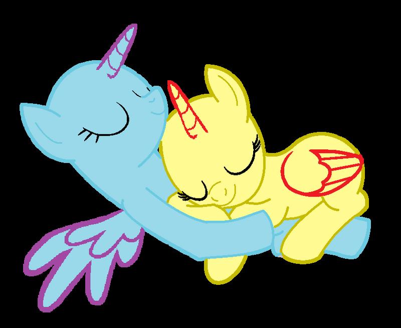 MLP Base: Cuddling Together By SpiritualPresence On DeviantArt