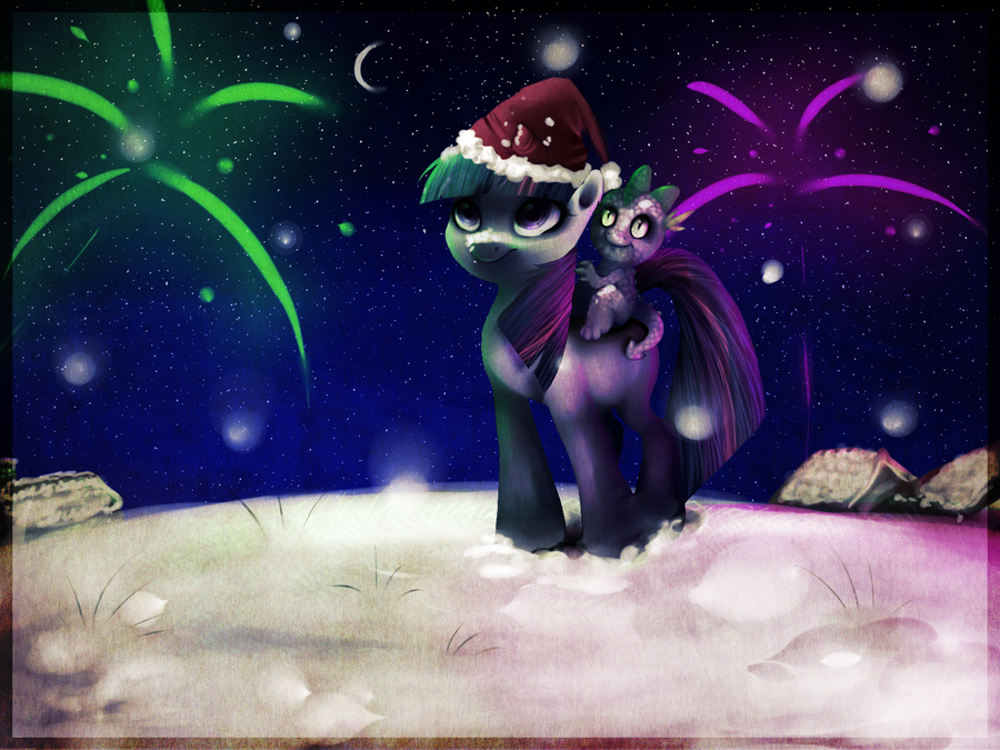 [Bild: my_first_xmas_at_ponyville_by_imalou-d4kh6fc.png]