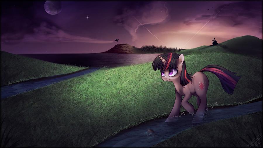 Equestrian plains by Imalou