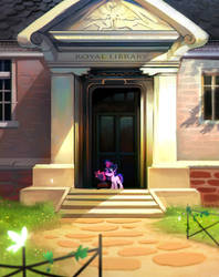 Celestia's library by Imalou