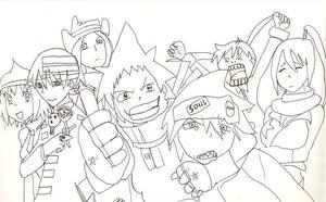 Soul Eater Group by ootamukun