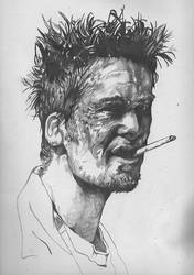 Tyler Durden by W0LFINSHEEPSCLOTHING