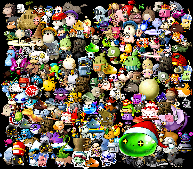 Maplestory_Monsters_by_SlimyTheSailor The maplestory mesos from The whole system of MapleStory Here!