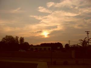 Sunset over Appalachian Fair