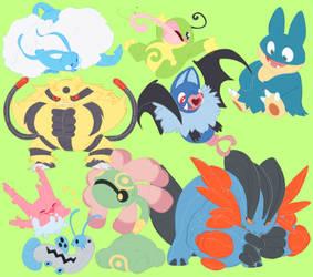 Pokemon doodles by Spazzan