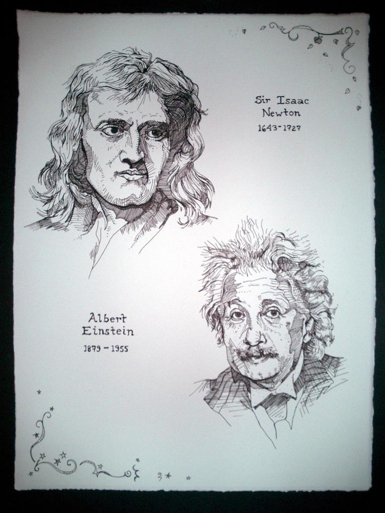 isaac newton and albert einstein Newton, darwin, & einstein most people think that genius is the primary determinant of intellectual achievement (newton: the life of isaac newton.