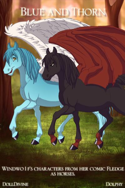 Blue and Thorn In Fantasy Horse Maker by Kodimarto on DeviantArt