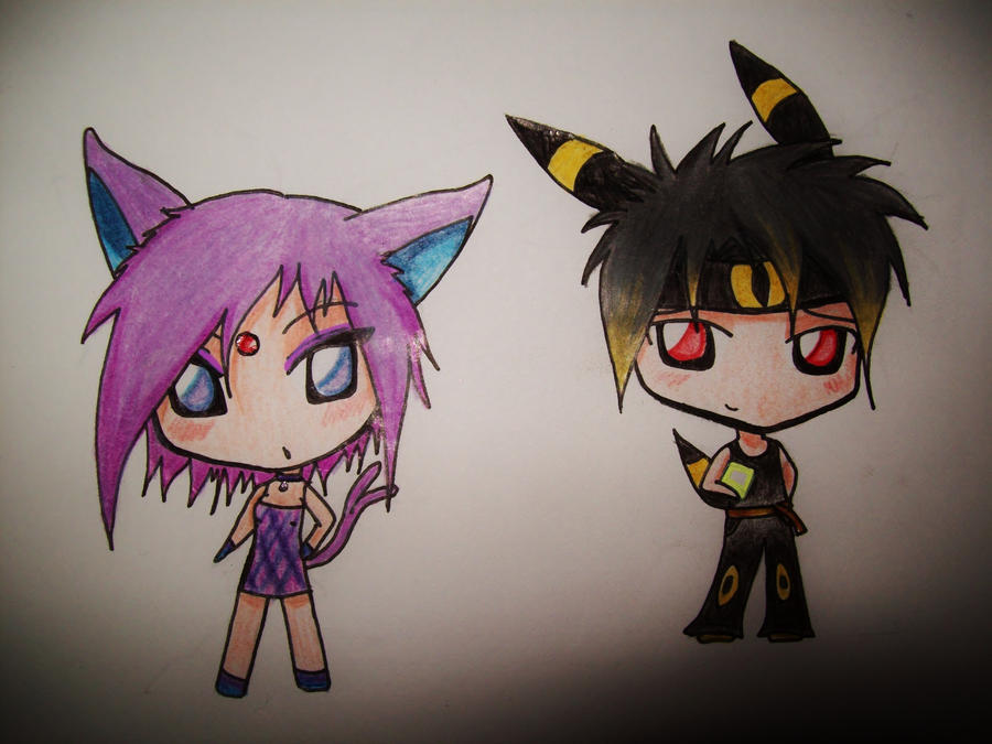Umbreon And Espeon Chibi Chibi umbreon and espeonEspeon And Umbreon Chibi