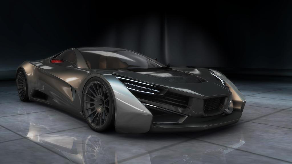 super car concept (3dmodel) by tofuPandaDesign