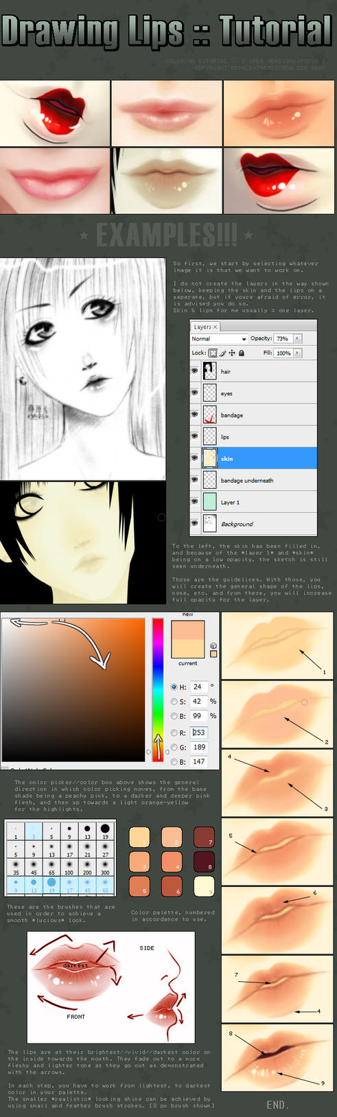Drawing Lips :: Tutorial by moral-extremist