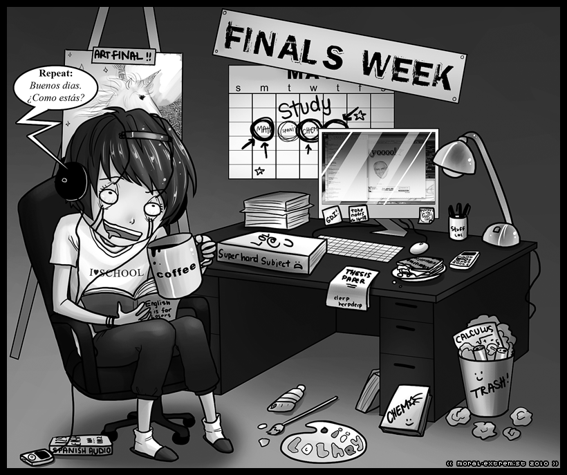 Exam week by moral-extremist