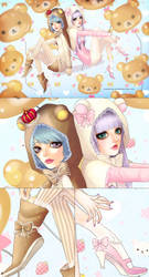 baby bears best buds + detail by moral-extremist