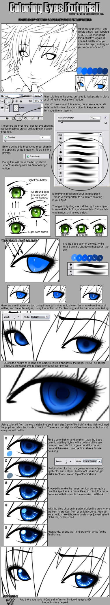 Coloring Eyes in PS :tutorial: by moral-extremist