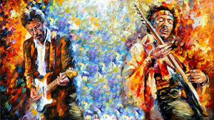Hendrix and Clapton Wallpaper