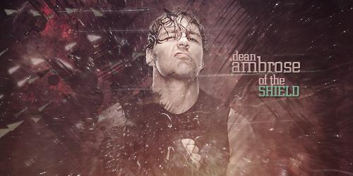 Dean Ambrose Signature Banner by Jeri-Spy