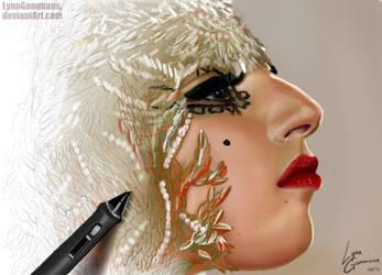Gaga at BAMBI Awards by LynnGommans